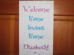 Welcome Home Elizabeth