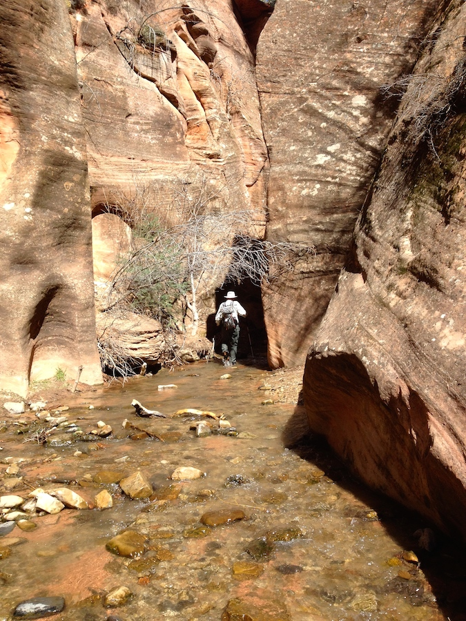 Entering the second stretch of slot canyon