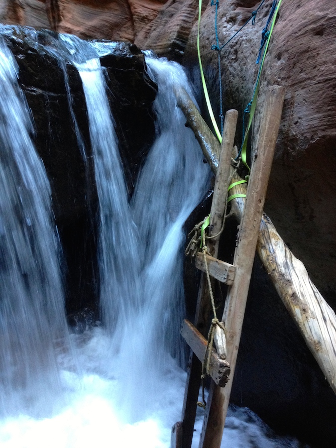 """The """"ladder"""" at the second waterfall"""